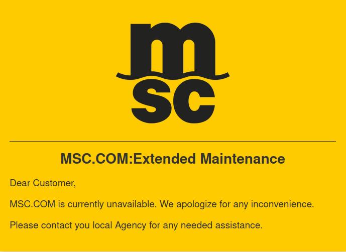 L'armateur MSC victime d'une probable cyberattaque.